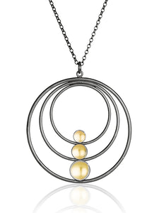Black and gold pendant - The Collective Dublin
