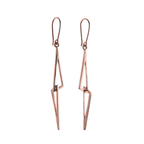 'LE CHÉILE' ROSE GOLD LINKED DROP EARRINGS - The Collective Dublin