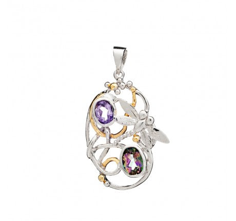 Meadow Pendant with Amethyst & Mystic Topaz - The Collective Dublin