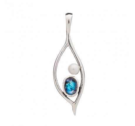 Peapod Pendant in Labradorite - The Collective Dublin
