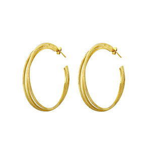 Double gold hoops - The Collective Dublin