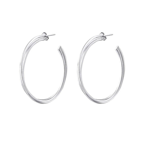 Double silver hoops - The Collective Dublin