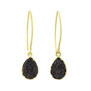 Black and gold druzy earrings - The Collective Dublin
