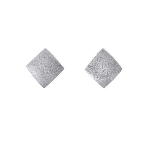 Satin finish diamond shaped studs - The Collective Dublin