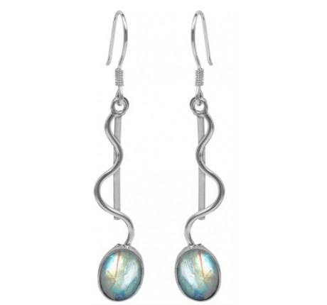 Heartbeat Earrings in Moonstone