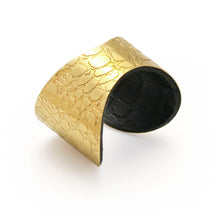 SKIN TEXTURED GOLD & BLACK ETCHED CUFF - The Collective Dublin