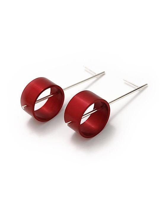 Aluminium Earrings Circles