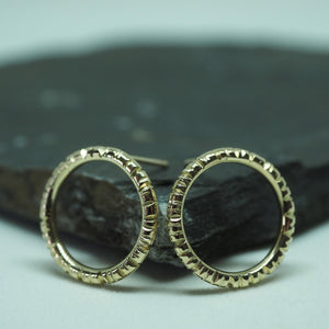 Into The Light Circle Earrings Gold