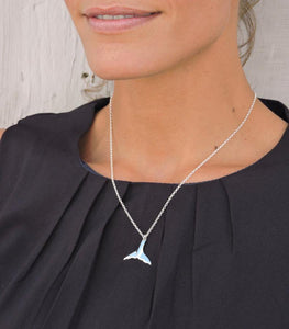 Whales Tail necklace - silver