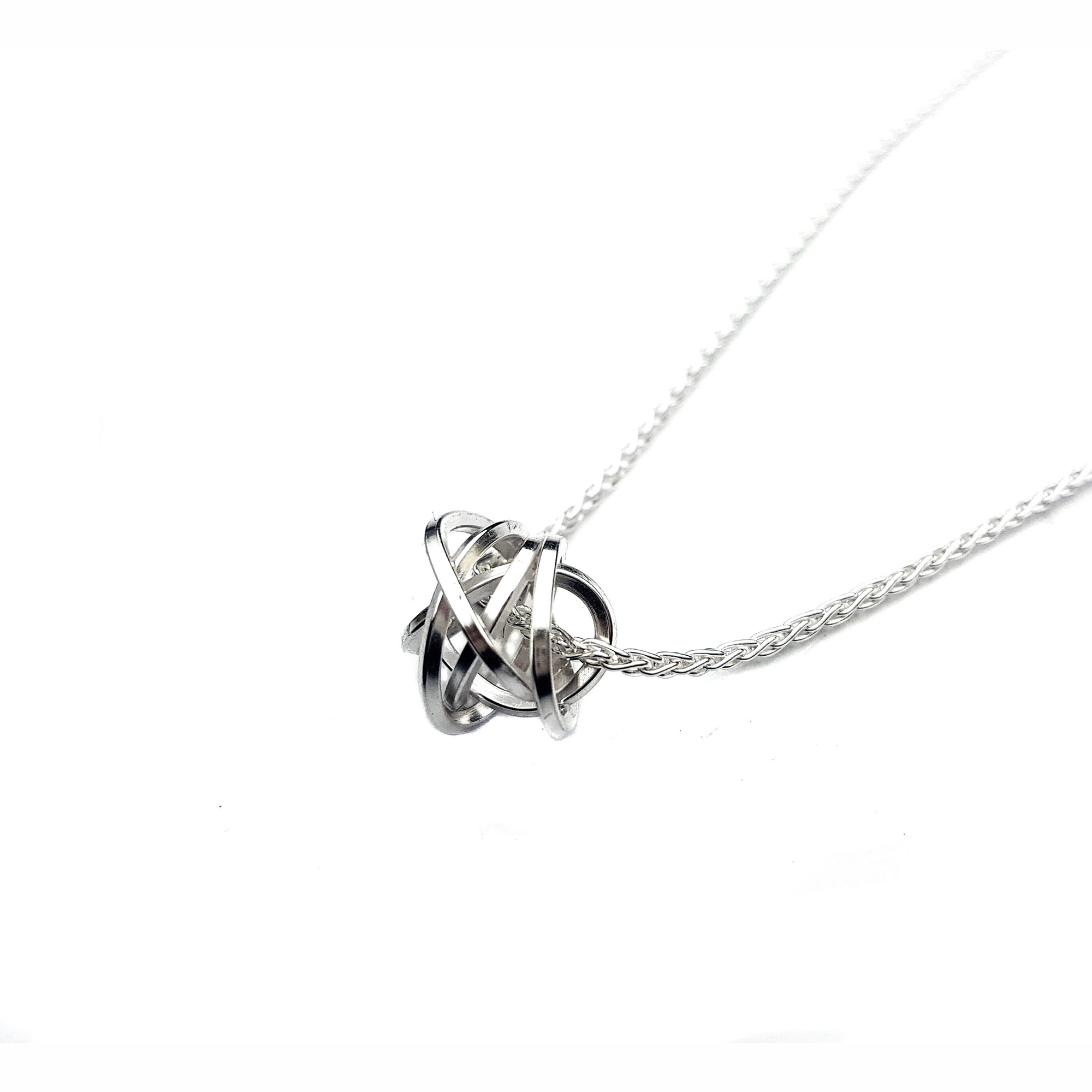 and silver rose gold necklace levin knot in sterling love pendant ed