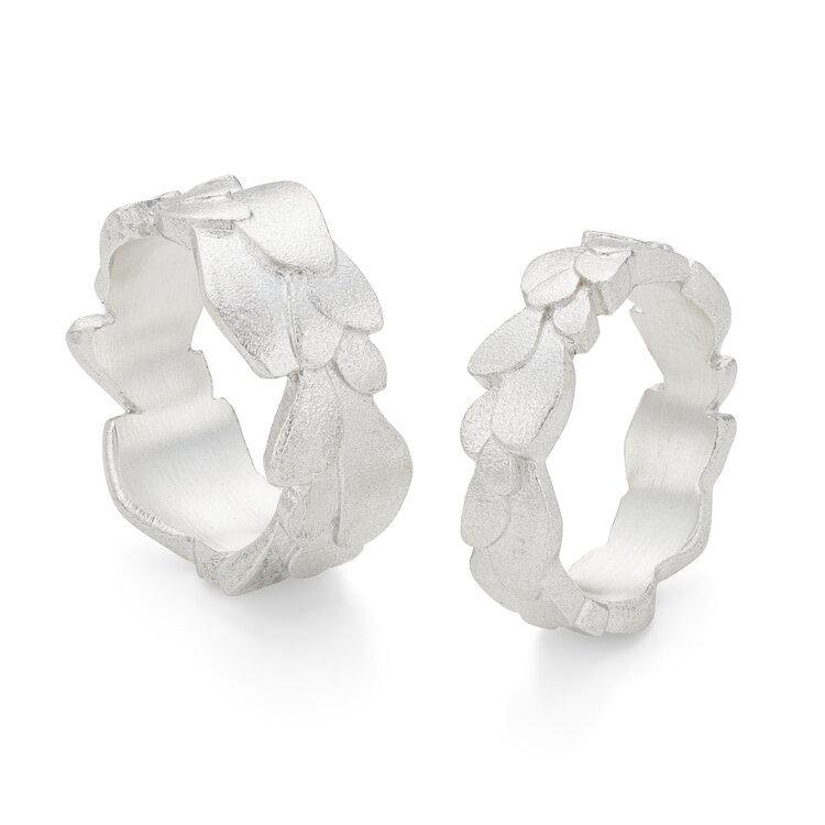 Kimana Silver freeform wing rings