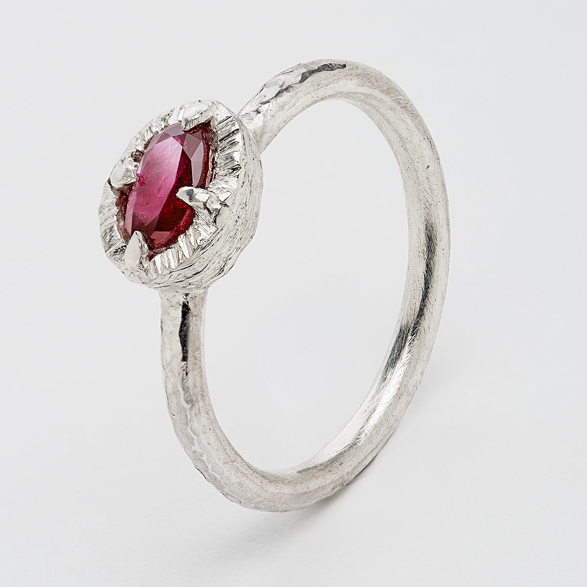 Thorn Ring Raw Ruby