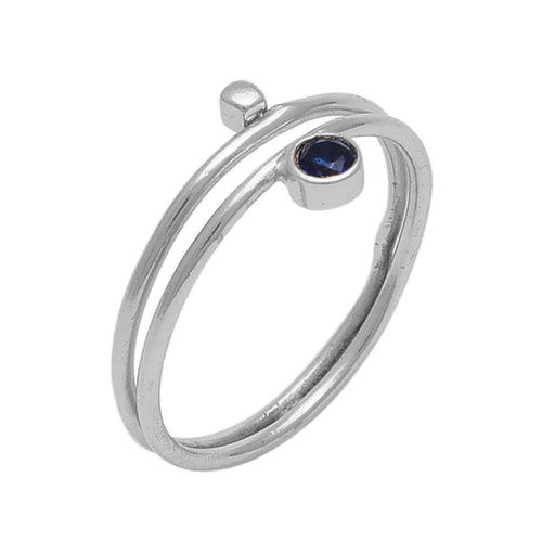 Blue quartz and silver ring - The Collective Dublin