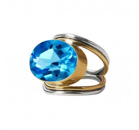 Party Ring in Blue Topaz