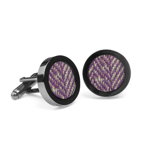 Stippled lilac tweed cufflinks - The Collective Dublin