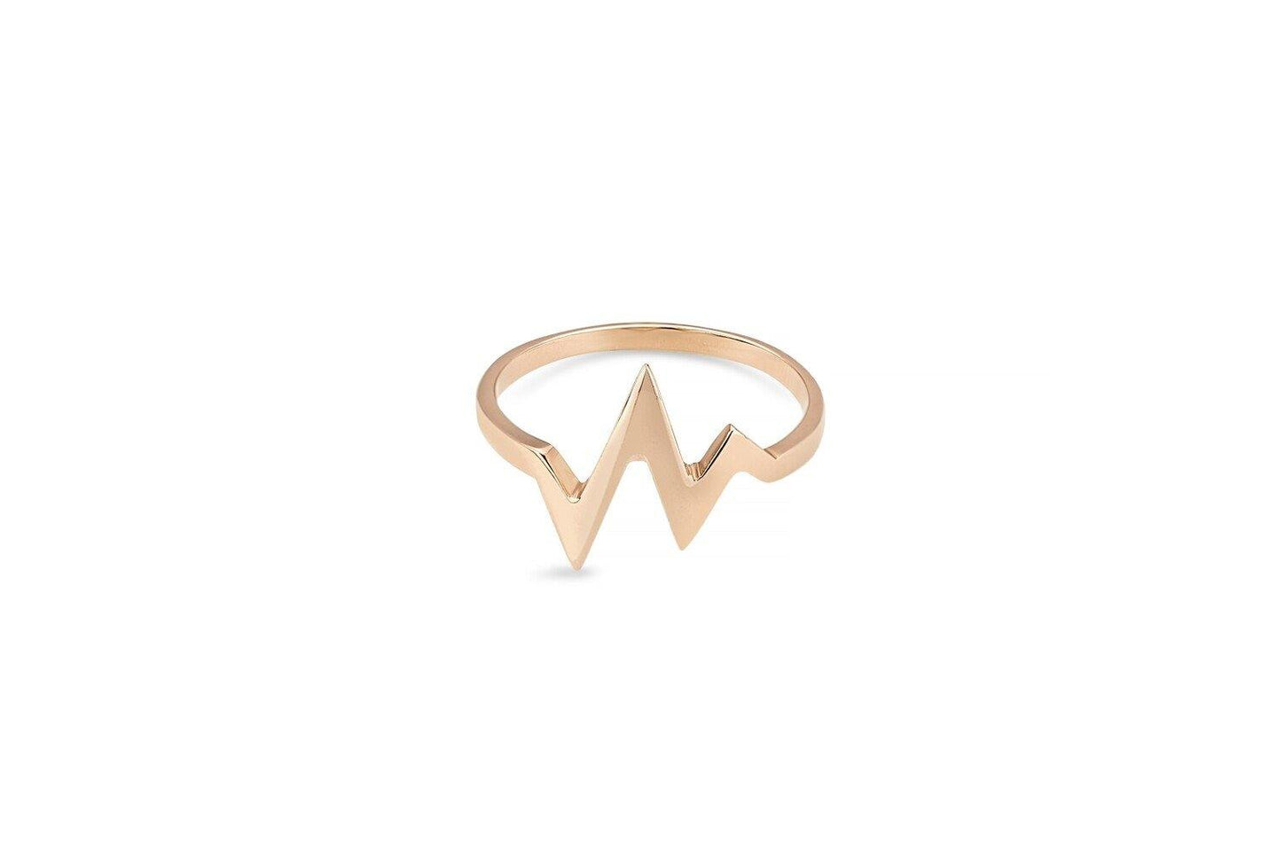 9ct Rose Gold HeartBeat Ring
