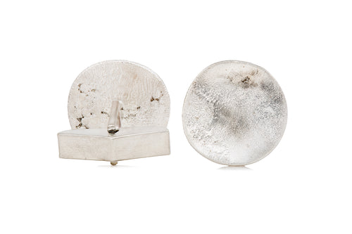 Rippled Textured Sterling Silver Statement Cufflinks - The Collective Dublin