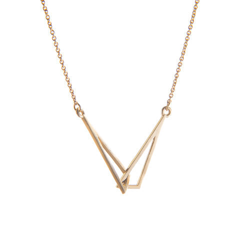 'LE CHÉILE' YELLOW GOLD LINKED PENDANT - The Collective Dublin