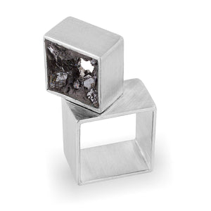 Urban Geode Silver Double Cube Ring