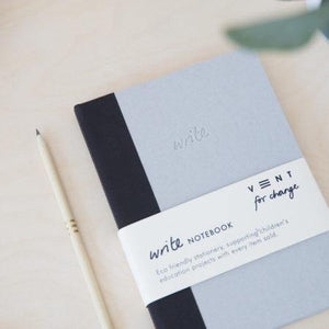 Sustainable A5 Write Notebook – lined paper