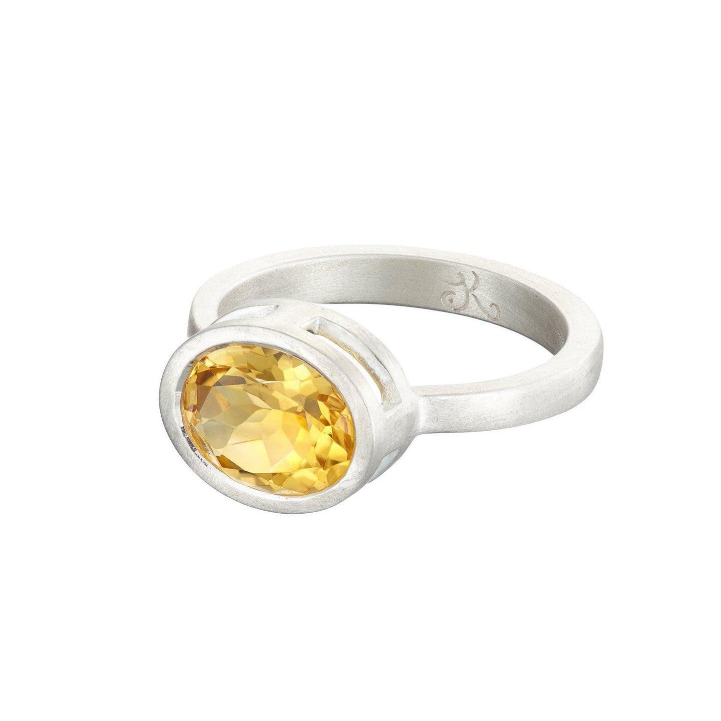 Citrine pirate ring in silver - The Collective Dublin
