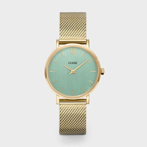 Minuit Mesh Green, Gold Colour