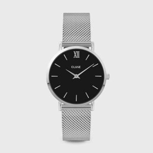 Minuit Mesh Black, Silver Colour
