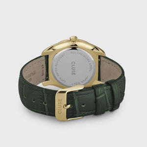 Féroce Leather Forest Green, Gold Colour