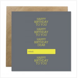 'Happy Birthday To You' Personalised Birthday Card - The Collective Dublin