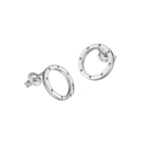 I am dreaming tiny stud earrings in silver