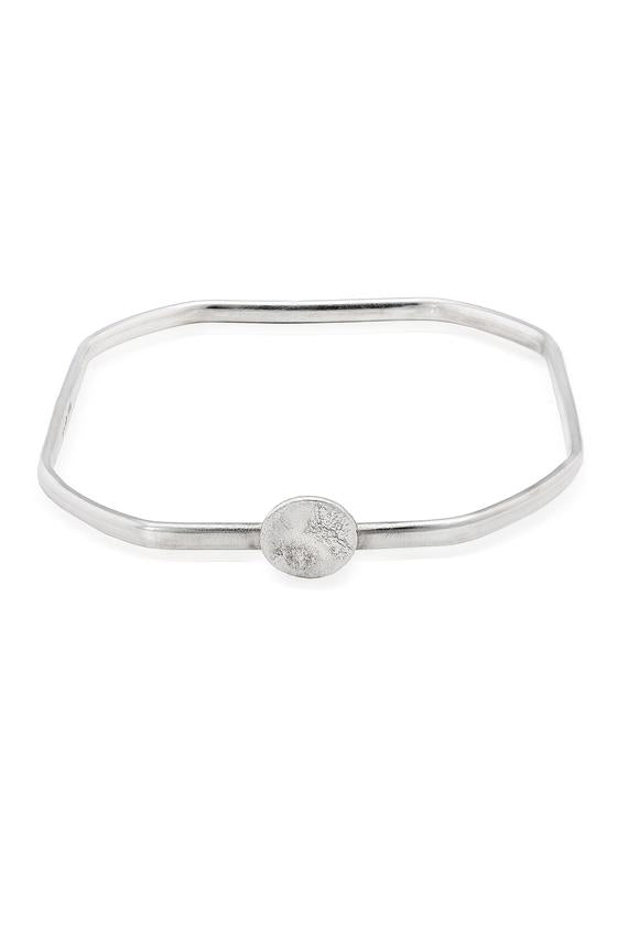 Rippled Sterling Silver Square Bangle - The Collective Dublin