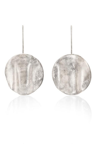 Rippled Large Statement Drop Earrings