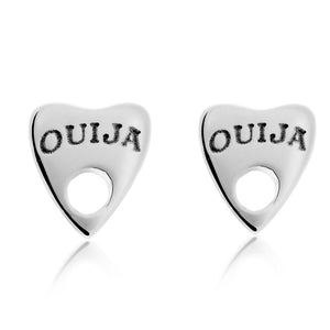 Ouija Silver Earrings