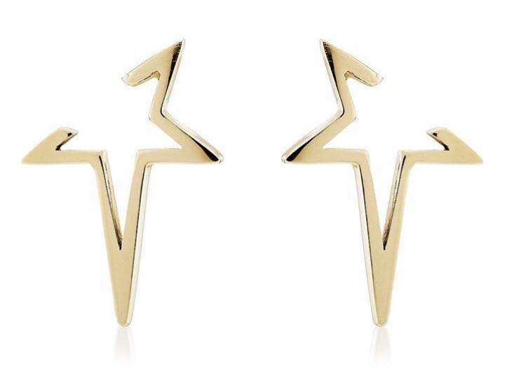"""Age of Aquaria"" Solid Gold Earrings - The Collective Dublin"