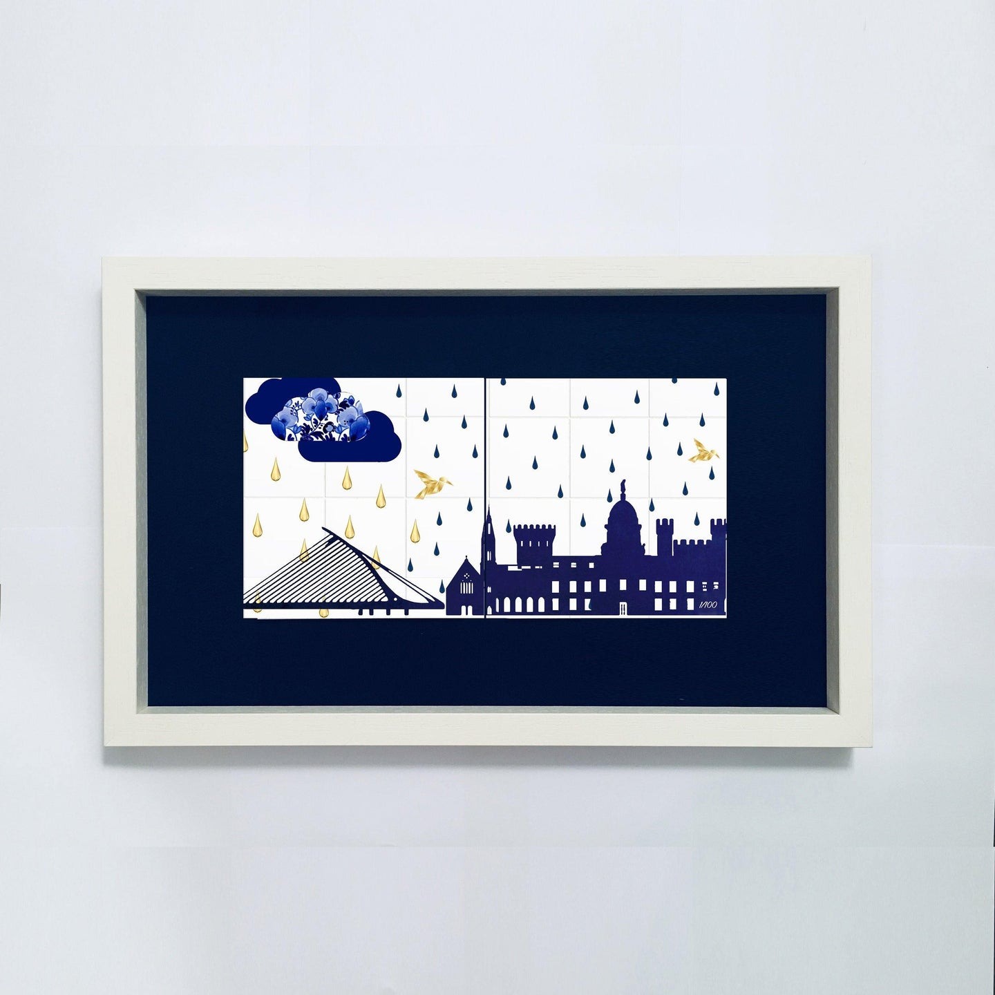 Irish Weather double tile framed - The Collective Dublin