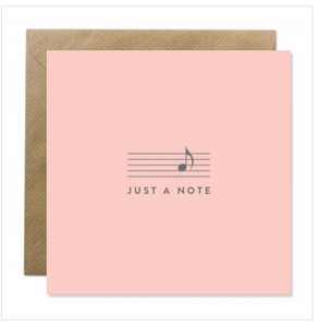'Just a note' Card - The Collective Dublin