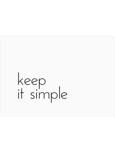KEEP IT SIMPLE PRINT - The Collective Dublin