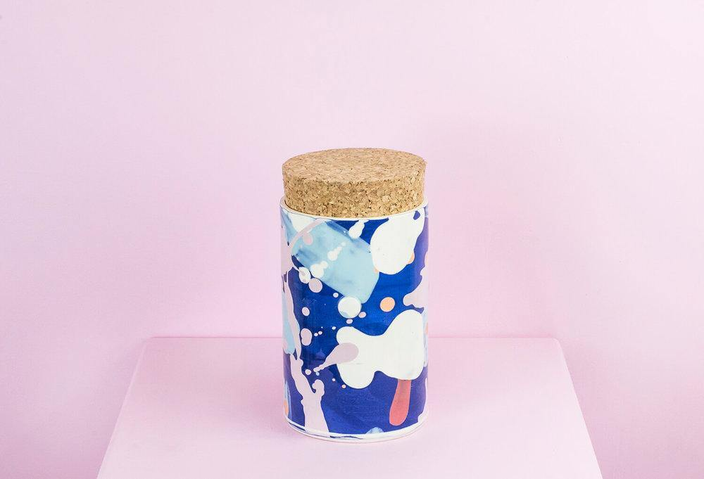 Large Canister with Cork Top