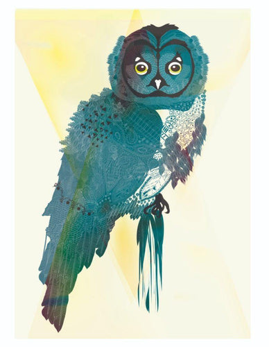 Cream Owl Print - The Collective Dublin