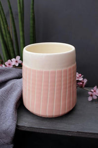 Blush Stripe Tapered Planter