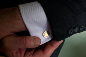 Round cufflinks - The Collective Dublin