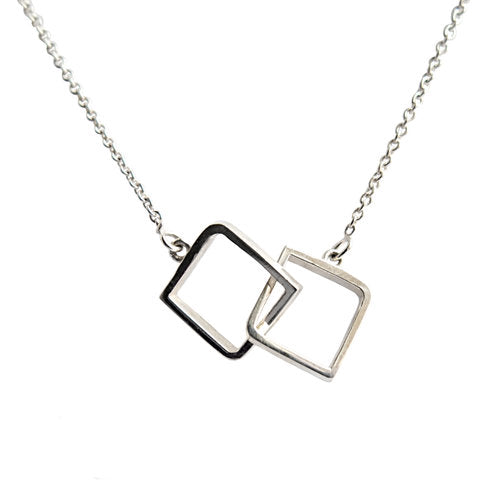 'LE CHÉILE' SQUARE LINKED PENDANT - The Collective Dublin