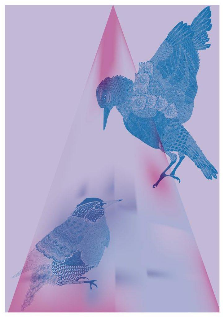 Starlings Purple Print - The Collective Dublin