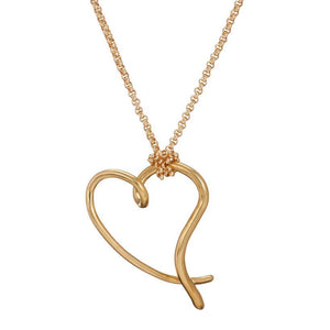 You have my heart large pendant in gold - The Collective Dublin