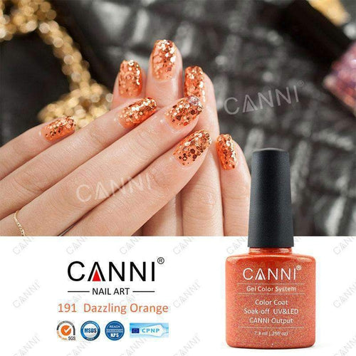 Canni 191 Dazzling Orange 7.3ml-Νύχια-Canni-IKONOMAKIS