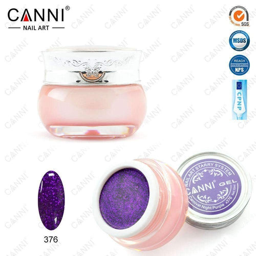 Canni Starry Gel 376 Carnival Night Purple 10ml-Νύχια-Canni-IKONOMAKIS