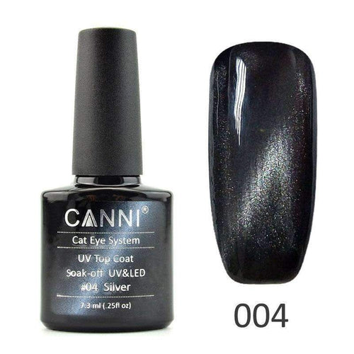 Canni Top Coat Cateye 04 Silver 7.3ml-Νύχια-Canni-IKONOMAKIS