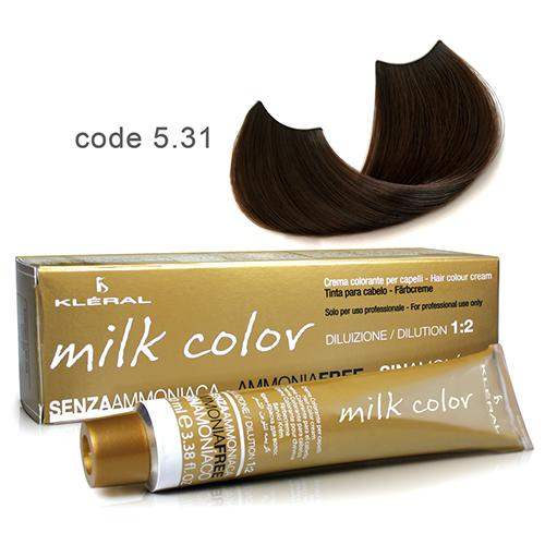 Kleral Milk Color Ammonia Free Colouring Cream 5.31 100ml-Μαλλιά-Kleral-IKONOMAKIS