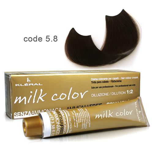 Kleral Milk Color Ammonia Free Colouring Cream 5.8 100ml-Μαλλιά-Kleral-IKONOMAKIS
