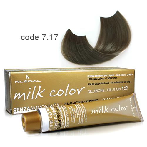 Kleral Milk Color Ammonia Free Colouring Cream 7.17 100ml-Μαλλιά-Kleral-IKONOMAKIS